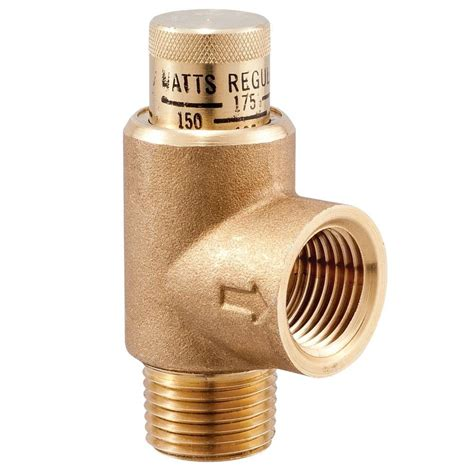 watts in watts 1 2 in lead free brass pressure relief valve 1 2