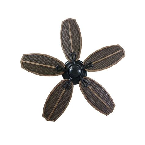 hton bay palm beach fan ceiling fan with wicker blades wanted imagery