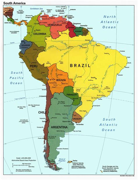 map usa and south america america world map