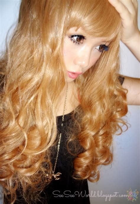 Pre Order Wig Light Brown Curly W58317 seeseeworld himecastle wig review wavy