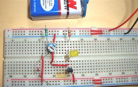 heat sensor simple heat sensor or temperature sensor circuit diagram