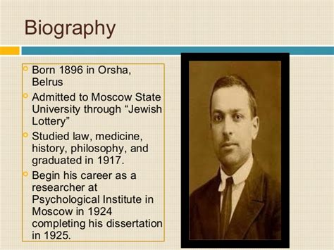 biography vygotsky lev vygotsky quotes on play quotesgram