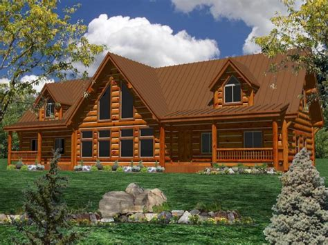 ranch log home plans one story log home plans one story ranch style log home
