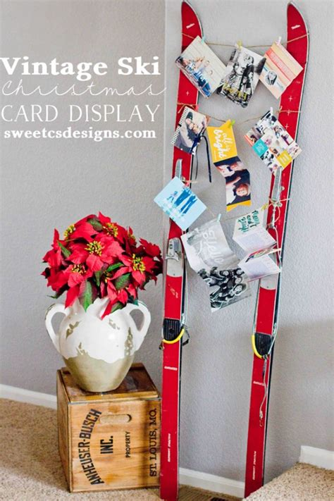 creative ways  display holiday cards