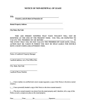 End Of Lease Non Renewal Letter Lease Extension Agreement Forms And Templates Fillable Printable Sles For Pdf Word