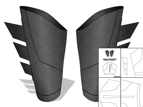 gauntlet template template for of justice batman gauntlets the foam cave