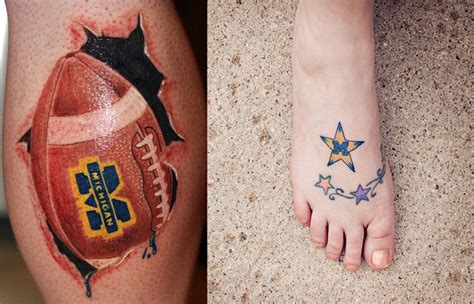 michigan tattoo designs 12 best maize blue ink images on michigan