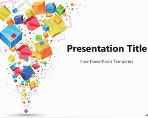 colorful powerpoint templates free colorful cubes powerpoint template free powerpoint
