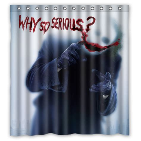 joker shower curtain joker why so serious batman the dark knight shower curtain