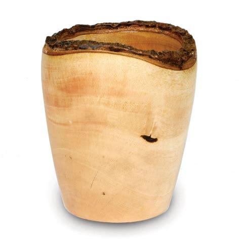 Mango Wood Vases by Mango Wood Utensil Vase Bark