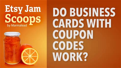 Etsy Gift Card Code - etsy jam scoops business cards with coupon codes youtube