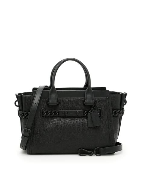 Ready Coach Swager 33 Black coach swagger 27 bag in matte black black modesens