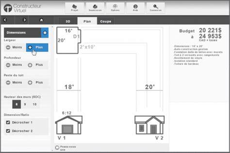 garage construction plans plan de garage gratuit constructeur virtuel