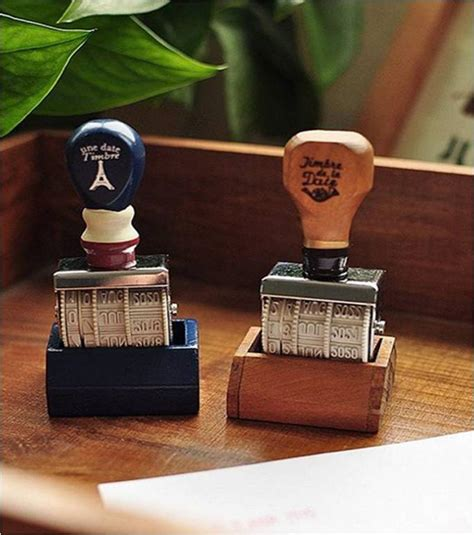 Classic Desk Accessories 2017 Date St Wood Handle Metal Office Desk Accessories Vintage Roller Sts Zakka Diy
