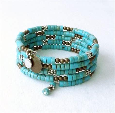 memory wire bracelet turquoise bracelet cuff bracelet