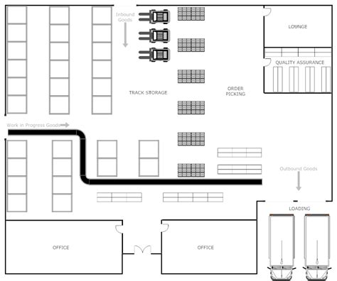 floor plan of warehouse floor plan templates draw floor plans easily with templates