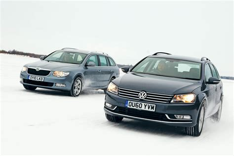new vw passat vs skoda superb car tests auto express