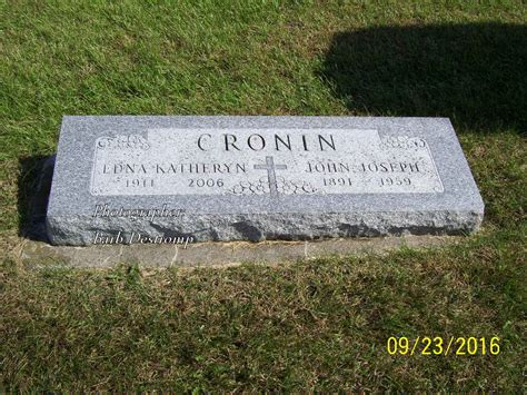 St Joseph County Indiana Marriage Records Edna Katheryn Cronin 1911 2006 Find A Grave Memorial