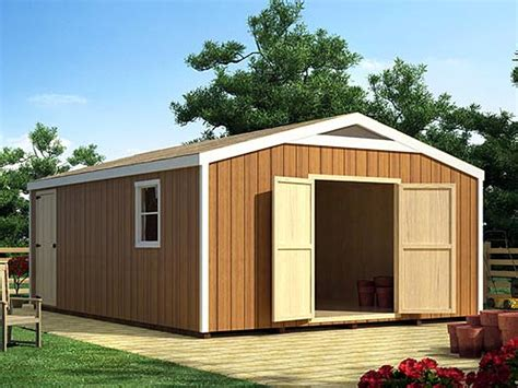 woodwork large storage building plans  plans
