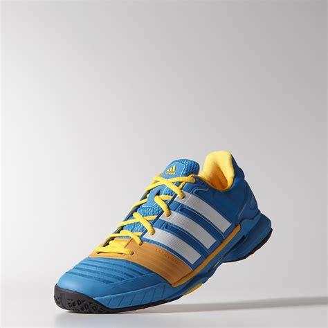 Adidas Sepatu Tennis Badminton Barricade Court White Orange Shoes Ori adidas mens adipower stabil 11 indoor shoes blue white