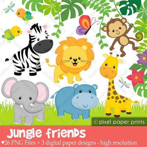 baby jungle animal border clip baby safari clipart clipart collection baby shower