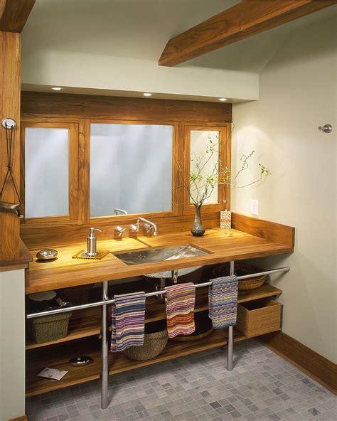 superior Small Space Bathroom Vanity #1: Teakwood-open-bathroom-vanity-is-a-space-saver.jpg
