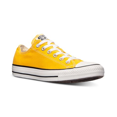 yellow sneakers mens converse mens chuck ox casual sneakers from finish