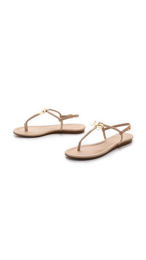 kate spade bow sandals kate spade tracie bow sandals in beige powder lyst