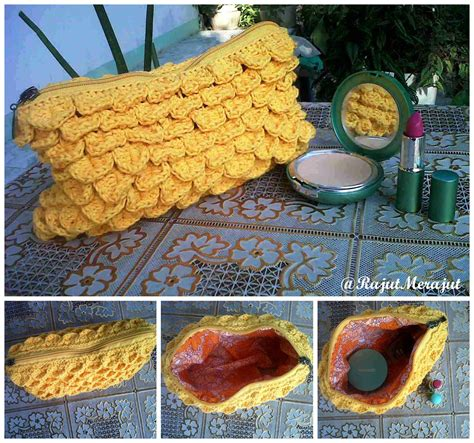 tutorial merajut tutup tas rajut merajut by norika ayu dewi crochet clutch with
