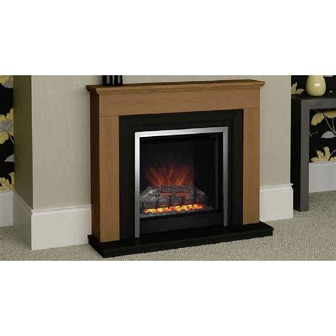 be modern hanbury 44 quot electric fireplace oak finish be