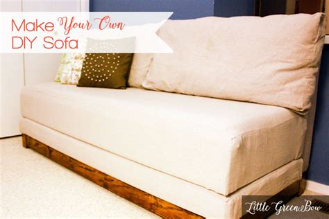 how to make your own sofa bed make your own diy couch with help from little green bow