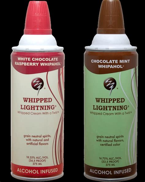 If It's Hip, It's Here (Archives): Alcohol Infused Whipped Cream in 11 Flavors. Whipped
