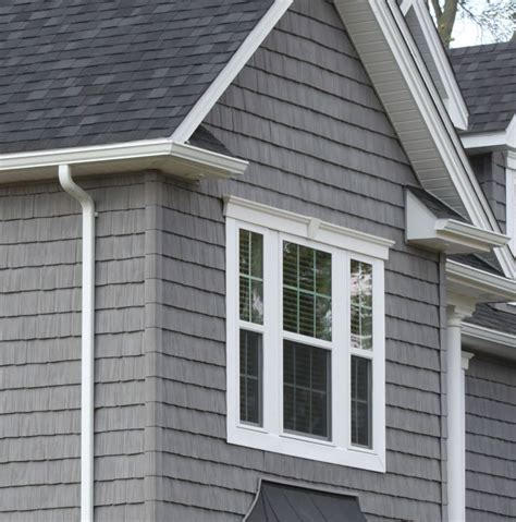 shingles house siding gray siding white trim black shingles cape cod style