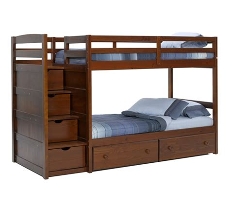Wooden Bunk Bed With Stairs Inspiring Wooden Bunk Bed With Stairs 13 Wood Bunk Beds With Storage Newsonair Org