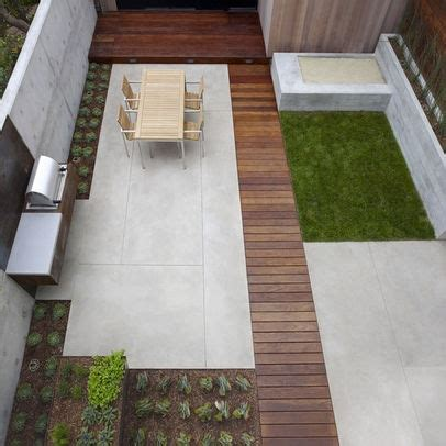 Rectangular Backyard Designs by Patio Idea Landscaping