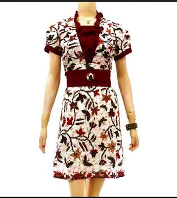 Blouse Lengan Balon Polos model baju batik wanita lengan pendek modern