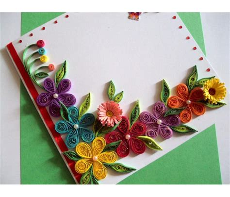 greeting card supplies for colorful flowers border greeting card buy handmade cards