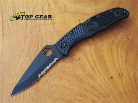 spyderco knife company spyderco endura knife with black tini blade c10psbbk