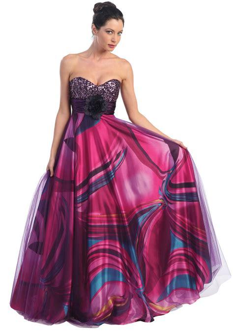 multi color prom dress multi color flower print prom dresses homecoming