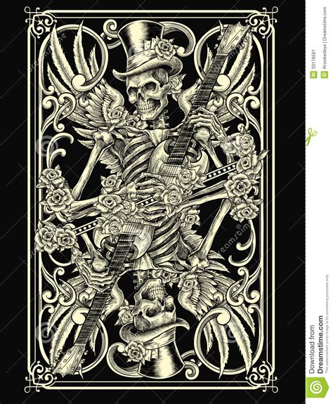 skeleton playing card stock vector image of game humerus