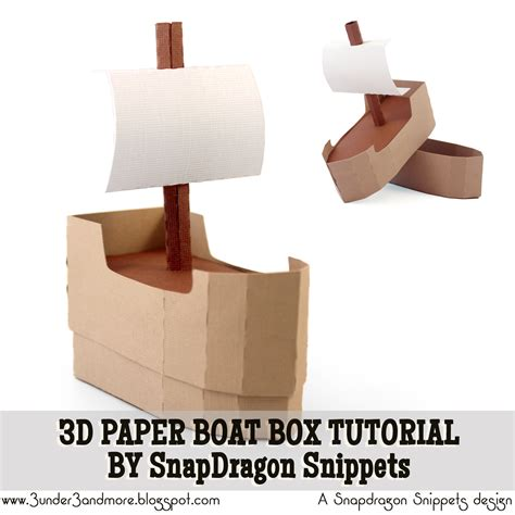 how to make a paper boat quickly 3 under 3 and more 3d boat box assembly tutorial