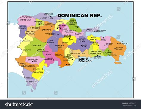 political map of republic political map republic stock illustration