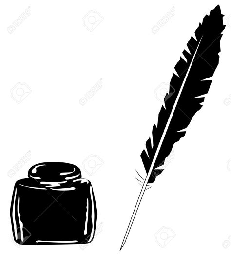 tattoo pen vector desk clipart feather pen pencil and in color desk