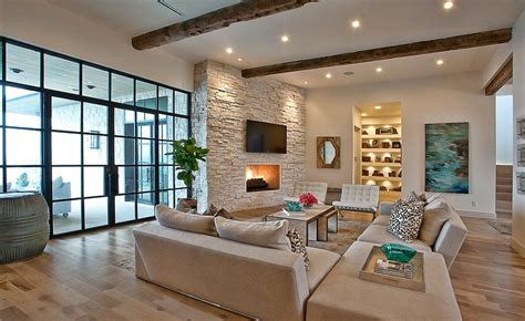 fireplace feature wall living room contemporary with stacked stone fireplace contemporary wall