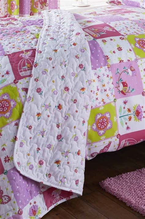 Pink Patchwork Curtains - patchwork pink quilt duvet cover pillowcase set or
