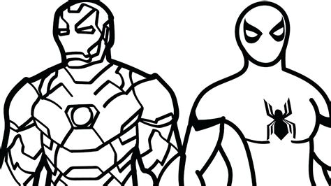 ironman and spiderman coloring pages coloring spiderman coloring pages for kids top color