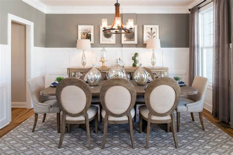 buffet table decorating with area rug dining room
