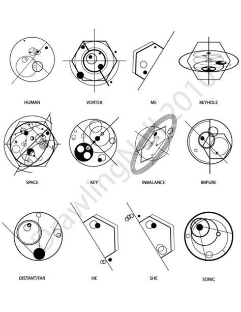 word layout symbols strange things are afoot the circle k gallifreyan symbols