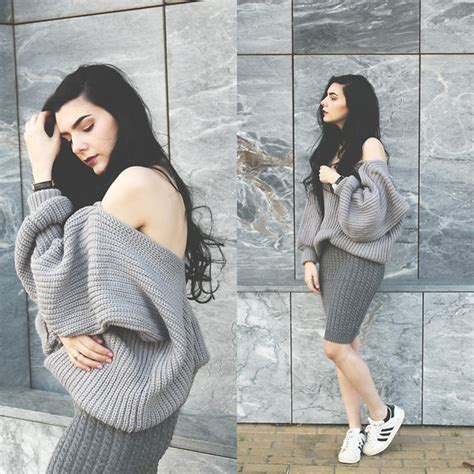 Karakter Top Knit melike g 252 l gray lookbook