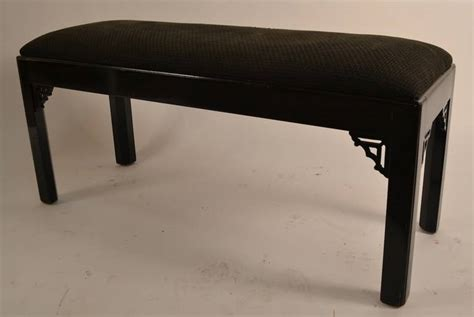 chinese chippendale bench black lacquer chinese chippendale revival bench at 1stdibs